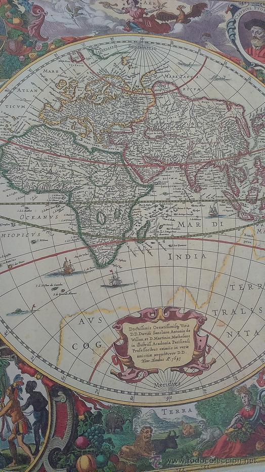 reproduccin de mapa mundi antiguo  Comprar en todocoleccion