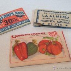 Coleccionismo: LOTE DE TRES SOBRES ESPECIAS AÑOS 60 SIN ABRIR. Lote 56726506