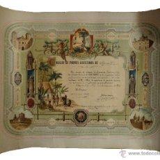 Coleccionismo: PRECIOSO DIPLOMA DE PADRES AGUSTINOS DE ALFONSO XII, AÑO 1912, FERNANDO REVILLAS.. Lote 53687154