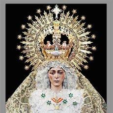 Coleccionismo: MARAVILLOSO AZULEJO 20X30 DE LA VIRGEN ESPERANZA MACARENA DE SEVILLA.. Lote 53759333