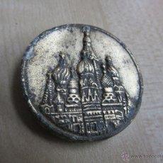 Coleccionismo: PLACA ANTIGUA DE LA CATEDRAL DE SAN BASILIO EN MOSCÚ. Lote 53842359