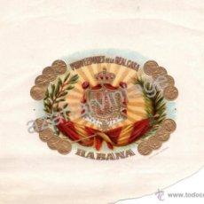 Coleccionismo: MAGNIFICA ETIQUETA DE TABACOS, PROVEEDORES REAL CASA, HABANA. Lote 53961259