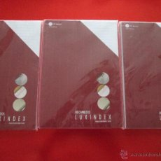 Coleccionismo: LOTE 3 RECAMBIOS-LUXINDEX AGENDA-VER TAMAÑO-RAYADOS-NUEVO-VER FOTOS.. Lote 53964726
