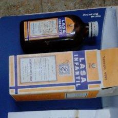 Coleccionismo: BOTELLA JARABE LASA INFANTIL MEDICAMENTO. Lote 53984087