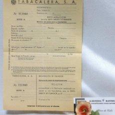 Coleccionismo: AÑO 1940.- DECLARACIÓN PARA LA SEXTA TARJETA DE FUMADOR. TABACALERA S.A. IMPRESO DE LA ÉPOCA.. Lote 53984299