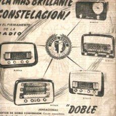 Coleccionismo: AÑO 1951 RECORTE PRENSA PUBLICIDAD IBERIA RADIO RECEPTOR DOBLE CONVERSION. Lote 54003902
