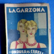 Coleccionismo: LA GARZONA. ONDULA EL CABELLO PERFUMÁNDOLO. COMPLETO. LABORATORIO EGABRO, CABRA, CÓRDOBA. Lote 54035656
