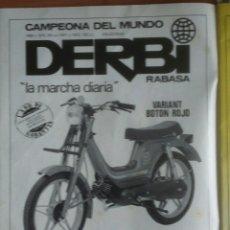 Coleccionismo: PUBLICIDAD CICLOMOTOR DERBI VARIANT DE 1983. Lote 68656421