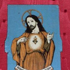 Coleccionismo: CHAPA METAL SAGRADO CORAZON PUERTAS. Lote 54080469
