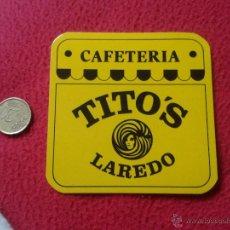 Coleccionismo: POSAVASOS COASTER TENGO MAS POSAVASOS VER LOTES CAFETERIA TITO'S LAREDO CANTABRIA IDEAL COLECCION VE. Lote 54114903