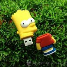 Coleccionismo: 2 CURIOSOS PENDRIVE MEMORIA USB 16GB BART Y LISA SIMPSON EDICION LIMITADA. Lote 54154681
