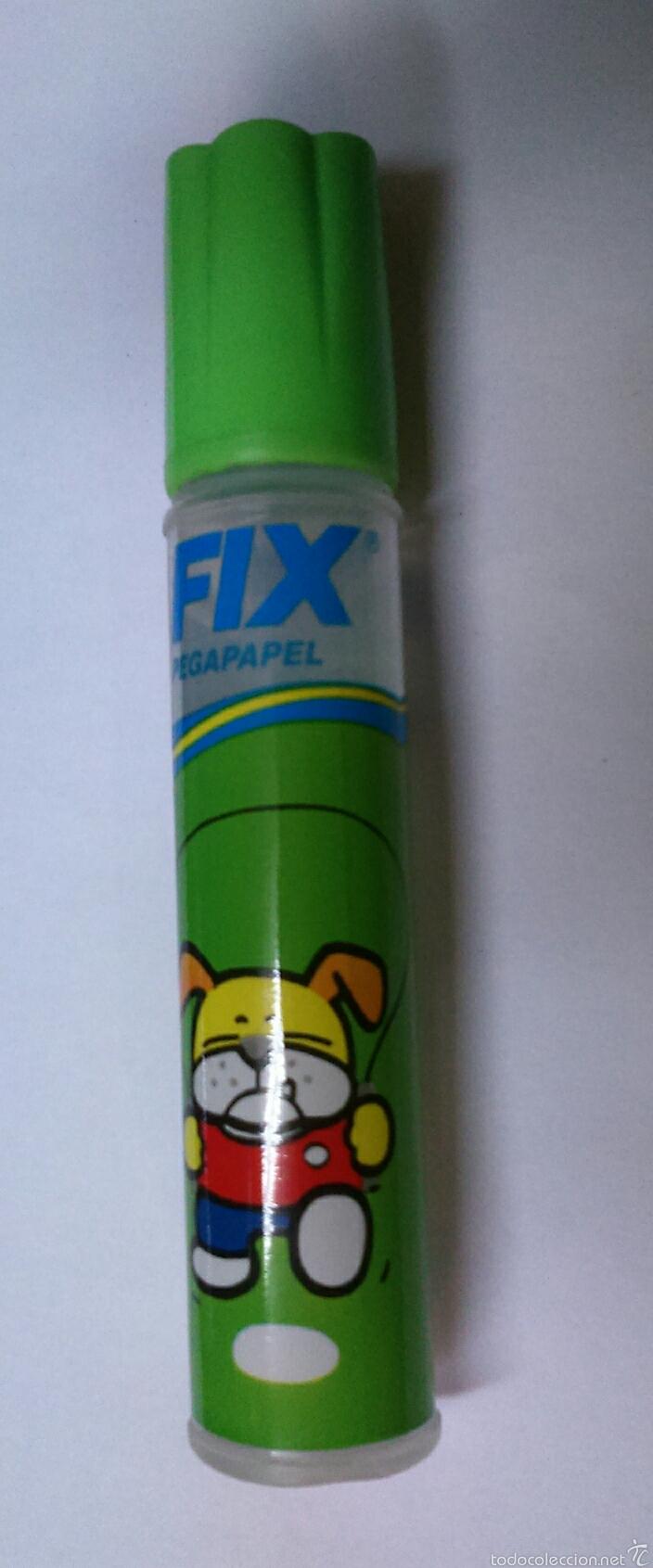Coleccionismo: Pegamento Fix pegapapel, Nuevo. Años 80. Con estampado - Foto 3 - 54281197