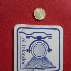 Coleccionismo: POSAVASOS COASTER TENGO MAS POSAVASOS VER LOTES EL IRLANDES CALLE CISNEROS 91 SANTANDER IDEAL COLECC. Lote 54284743