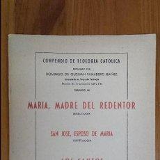 Coleccionismo: COMPENDIO DE TEOLOGIA CATOLICA DOMINGO DE GUZMAN PANADERO COLECCION SACER MURCIA 1955. Lote 54371166