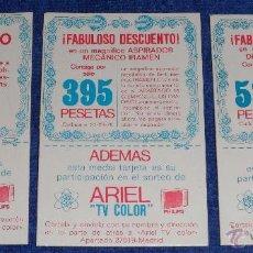 Coleccionismo: ARIEL - VALES DESCUENTO - SORTEO TV COLOR PHILIPS. Lote 54417728