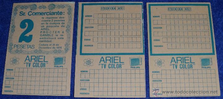 Coleccionismo: Ariel - Vales descuento - Sorteo TV Color Philips - Foto 2 - 54417728