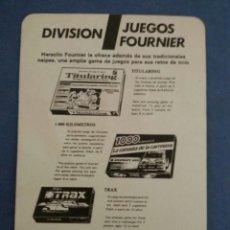 Coleccionismo: CARTA PUBLICITARIA FOURNIER #1925. Lote 54439956
