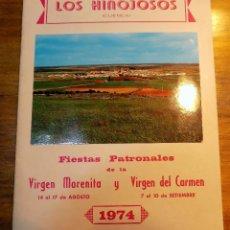 Coleccionismo: PROGRAMA FESTEJOS, LOS HINOJOSOS , CUENCA 1974. Lote 54447725