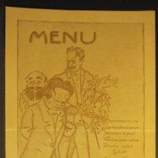 Coleccionismo: MENU, JUNTA DIRECTIVA DE L'ORFEO CATALÁ, ILUSTRADO POR J.RENART 1927. 18.50 X 11,5 CM. Lote 54473884