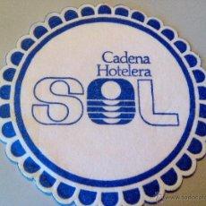 Coleccionismo: POSAVASOS CADENA HOTELERA SOL. Lote 54533427