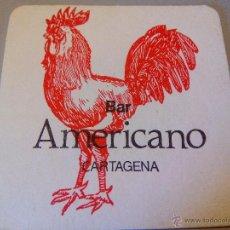 Coleccionismo: POSAVASOS BAR AMERICANO. Lote 54534596
