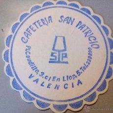 Coleccionismo: POSAVASOS CAFETERIA SAN PATRICIO. Lote 54542864