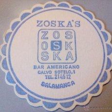 Coleccionismo: POSAVASOS BAR AMERICANO ZOSKA'S. Lote 54543689
