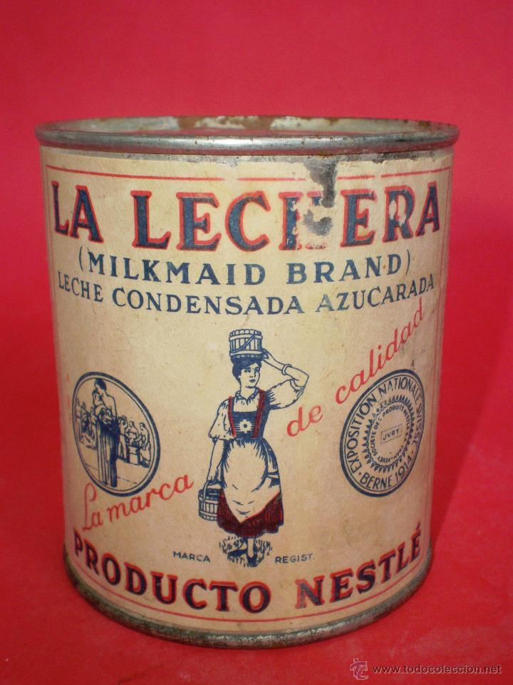 Coleccionismo: BOTE LECHE *LA LECHERA* -AÑO 1956- LECHE CONDENSADA AZUCARADA, 370 GR. SOCIEDAD NESTLÉ - Foto 2 - 119622967