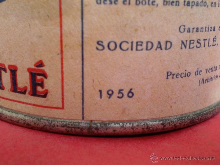 Coleccionismo: BOTE LECHE *LA LECHERA* -AÑO 1956- LECHE CONDENSADA AZUCARADA, 370 GR. SOCIEDAD NESTLÉ - Foto 3 - 119622967