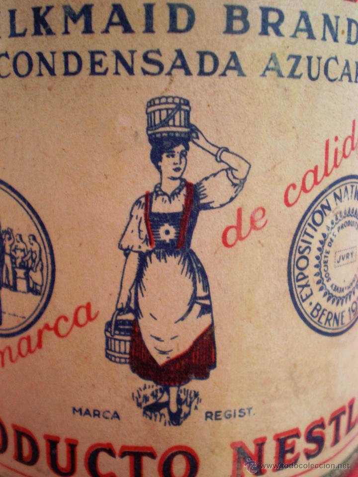 Coleccionismo: BOTE LECHE *LA LECHERA* -AÑO 1956- LECHE CONDENSADA AZUCARADA, 370 GR. SOCIEDAD NESTLÉ - Foto 6 - 119622967