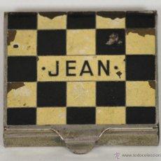 Coleccionismo: CAJITA PORTA PAPEL DE FUMAR. EN METAL ESMALTADA. JEAN. CIRCA 1940. . Lote 54798530