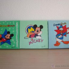 Coleccionismo: 3 CUADROS INFANTILES DE DIBUJOS DISNEY. MICKEY, DONALD.. Lote 54831229