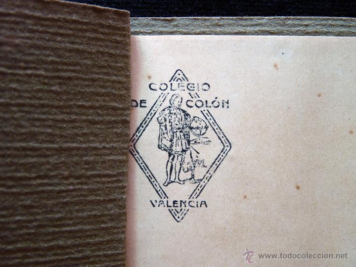 ANTIGUA LIBRETA AGENDA CARNET ESCOLAR COLEGIO DE COLÓN 16 X 11,5 CM.. VALENCIA 1928 (Coleccionismo - Varios)