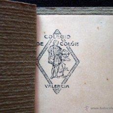 Coleccionismo: ANTIGUA LIBRETA AGENDA CARNET ESCOLAR COLEGIO DE COLÓN 16 X 11,5 CM.. VALENCIA 1928. Lote 54855156