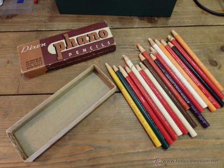 Coleccionismo: CAJA DE LAPICES DIXON PHANO PENCILS, USA, CON 17 LAPICES DENTRO,CHINA RITER,MARKER,ETC.. - Foto 3 - 54876798