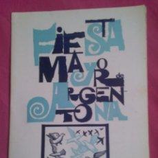 Coleccionismo: PROGRAMA DE FIESTAS DE ARGENTONA. 1966. Lote 55011847