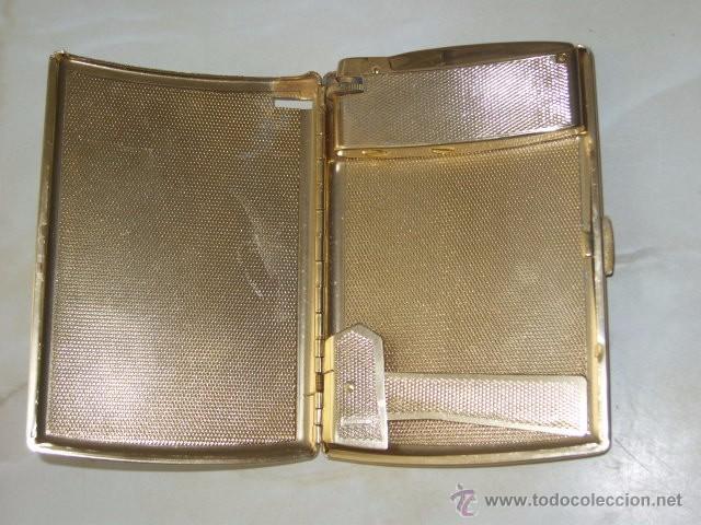 Coleccionismo: ANTIGUA PITILLERA CON MECHERO.AÑOS 60. - Foto 3 - 55057714