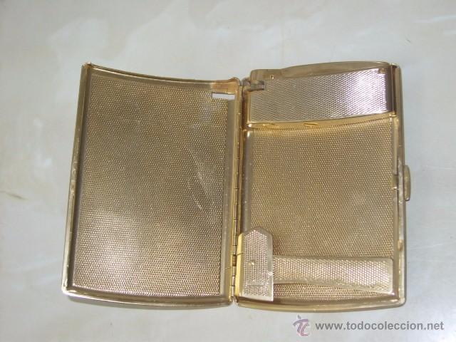Coleccionismo: ANTIGUA PITILLERA CON MECHERO.AÑOS 60. - Foto 4 - 55057714