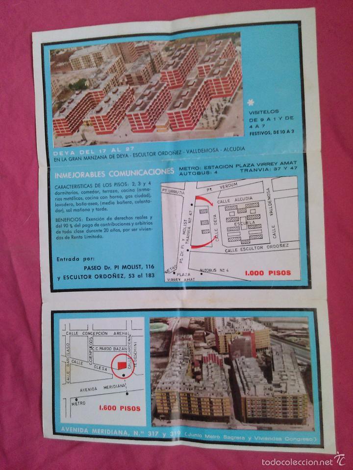 Coleccionismo: Barcelona. Publicidad de Constructora Inmobiliaria. Pisos en Barcelona y Ripollet - Foto 2 - 55123519