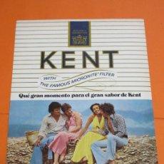 Coleccionismo: PUBLICIDAD 1975 - COLECCION TABACO - KENT . Lote 55134698