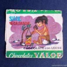 Coleccionismo: ENVOLTORIO ETIQUETA BOMBON BOMBONES CHOCOLATES VALOR SILIX EL CAZADOR AÑOS 60. Lote 55345650