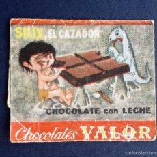 Coleccionismo: ENVOLTORIO ETIQUETA BOMBON BOMBONES CHOCOLATES VALOR SILIX EL CAZADOR AÑOS 60. Lote 55345664