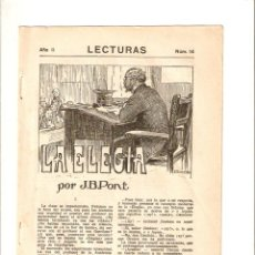 Coleccionismo: AÑO 1922 RECORTE PRENSA RELATO CORTO LA ELEGIA J B PONT ILUSTRACIONES CALDERE DIBUJO. Lote 55401146