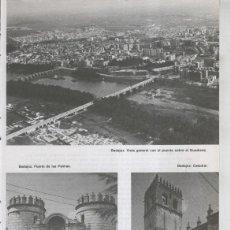 Coleccionismo: VIAJE POR EXTREMADURA: BADAJOZ: PUERTA DE LAS PALMAS, CATEDRAL Y. Lote 55487657