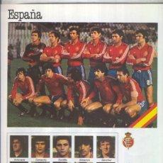Coleccionismo: ESPAñA 1982 LAMINA 04: SELECCION DE ESPAñA. Lote 55520244