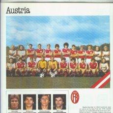 Coleccionismo: ESPAñA 1982 LAMINA 16: SELECCION DE AUSTRIA. Lote 55520257