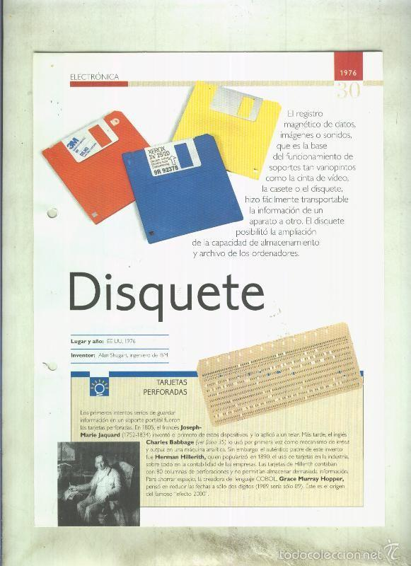 DISQUETE: SON 4 PAGINAS Y (Coleccionismo - Laminas, Programas y Otros Documentos)