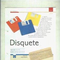 Coleccionismo: DISQUETE: SON 4 PAGINAS Y . Lote 55562971