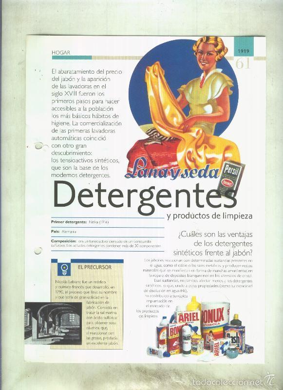 DETERGENTES: SON 4 PAGINAS Y (Coleccionismo - Laminas, Programas y Otros Documentos)