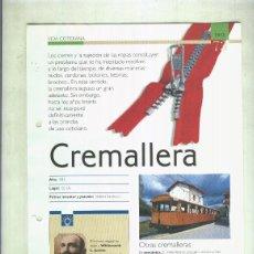 Coleccionismo: CREMALLERA: SON 4 PAGINAS Y. Lote 55562999